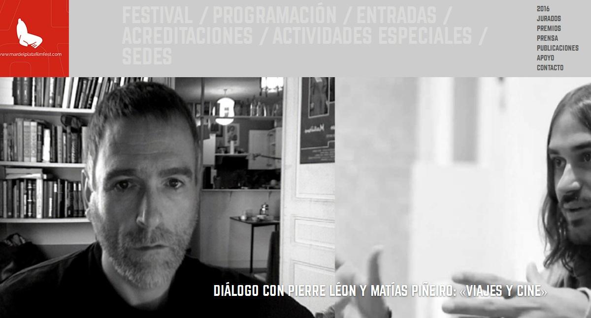 Pierre Léon y Matías Piñeiro dialogan sobre viajes y cine